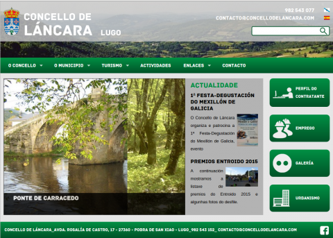 Nova web Concello de Láncara